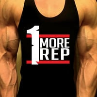 Men's Workout Tank Top. Fitness Tank. Racerback Tank. Muscle Tank. Men's Shirt Gym Tank Top. Workout Shirt. Fitness Apparel. One More Rep