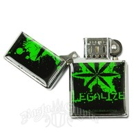 Distressed and Splatter Pot Leaf Legalize It Refillable Lighter @ RastaEmpire.com