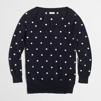 FACTORY EMBROIDERED DOT SWEATER