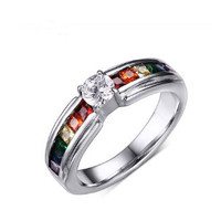 Stainless Steel LGBT Rainbow Ring