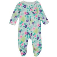 Carters Baby Clothing Outfit Girls Sleep & Play Floral - Walmart.com