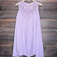 lavender boho crochet lace dress