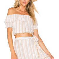 Lovers + Friends x REVOLVE Alicia Top in Nude Stripe | REVOLVE