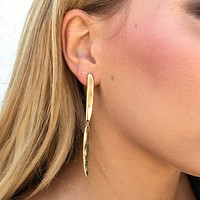 Lisa Gold Bar Drop Earrings
