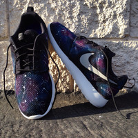 Custom galaxy Nike Roshe Runs. You supply the base shoe