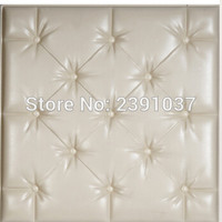 Creative Design Acoustic Panels 25Pcs40*40Cm Leather Panel Pu Leather Wall Panel Panel Acustico Choice Of Tv Room Feature Wall