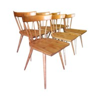 Pre-owned Paul McCobb Maple Dining Chairs - Set of 6