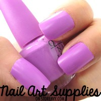 nailartsupplies | Vivid Pale Purple Matte Nail Polish Mini Teaser Size 8ml | Online Store Powered by Storenvy