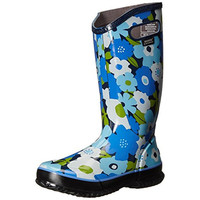 Bogs Womens Spring Flowers Mid-Calf Floral Print Rain Boots