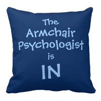 Armchair Psychologist Throw Pillow