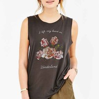 Project Social T Wonderland Muscle Tee- Black