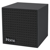 IHOME IBT16BBC Rubberized Bluetooth(R) Mini Speaker Cube with Rechargeable Battery