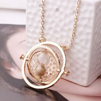 Vintage jewelry accessories Novelty style necklace Harry Potter Time Converter Rotation Turner Hourglass