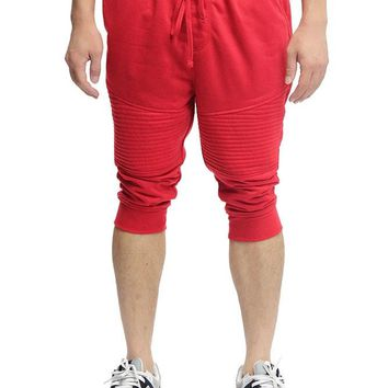 French Terry Biker Jogger Shorts
