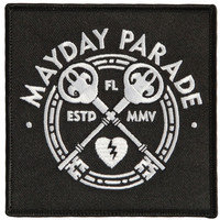 Mayday Parade Men's Keys Embroidered Patch Black