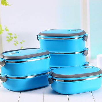 Stainless Steel Food Storage Box 1-3 Layer Japanese Bento Box Portable Thermal Lunchbox For Kids Picnic Food Container
