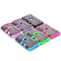 Straw Grass Mossy Camo Hybrid Impact Cover Case for iPod Touch iTouch 5 5th Gen