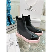 GVIENCHY2021  Trending Women's men Leather Side Zip Lace-up Ankle Boots Shoes High Boots07090gh