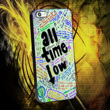 All Time Low Art Lyric Quote Costumize iPhone 4,4s,5,5s,5c,6,6 Plus, iPod 4,5, Samsung Galaxy S3,S4,S5 Case