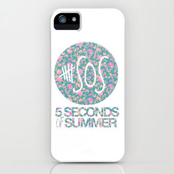 5SOS - 5 Seconds of Summer - Floral iPhone & iPod Case by Valerie Hoffmann