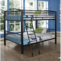 Powell Heavy Metal Black Full Over Full Bunk Bed