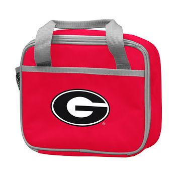 UNIVERSITY OF GEORGIA RED LUNCH BOX F/ PRIMARY LOGO