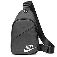 NIKE Fashion New Letter Hook Print Women Men Shoulder Bag Bust Bag Gray