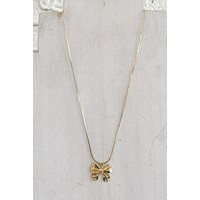 CNJ Vintage Bow Necklace