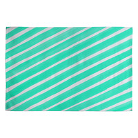 Rebecca Allen Pretty In Stripes Turquoise Woven Rug