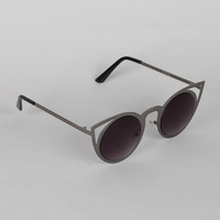 Polished Wild Cat Cut Out Sunglasses