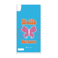 Sassy - Hello Gorgeous 10433 White Hard Plastic Case for Huawei P6 by Sassy Slang