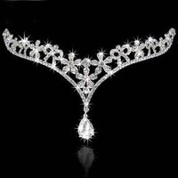 2015 The bride Korean style crown Forehead decoration Classic wedding accessories Bridal Headpiece (Color: White) = 1929601284