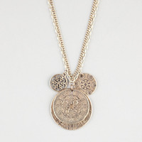 Full Tilt Compass Charm Necklace Gold One Size For Women 24231862101