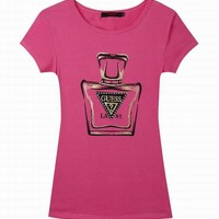 Guess short round collar T woman S-XL