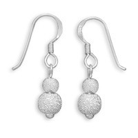 4mm/6mm Stardust Earrings on French Wire