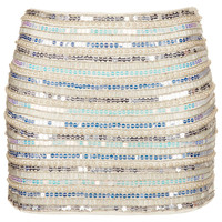 Pearl and Sequin Mini Skirt - Topshop USA