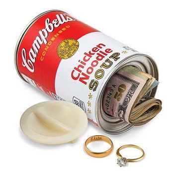Campbell's Chicken Noddle Soup Stash Can