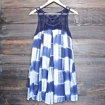 Tie Dye Crochet Bib Dress