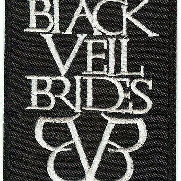 Black Veil Brides Iron-On Patch White Letters Logo