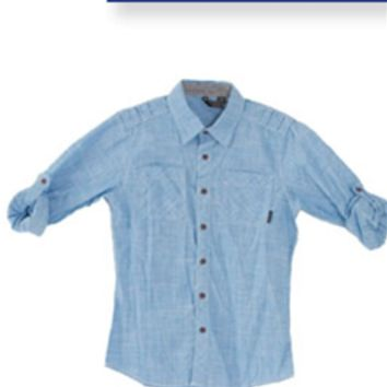 Ocean Current Woven Button-Down Shirt for Boys OB114212