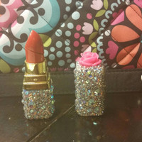 Hand blinged  lipstick lighter. refillable.