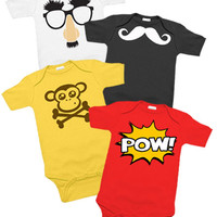 Funny Baby 4 One Piece Set