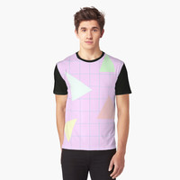 '80s Triangles' Graphic T-Shirt by ChessJess