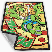 TMNT Turtles Ninja Pizza Blanket for Kids Blanket, Fleece Blanket Cute and Awesome Blanket for your bedding, Blanket fleece **