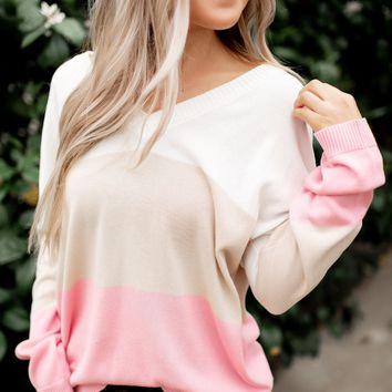 Yes Please Color Block Top