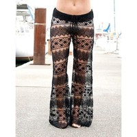 Women's  Fashion Lace Pants Trousers