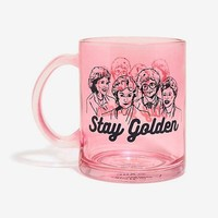 Golden Girls Stay Golden Pink Glass Coffee Mug