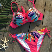 Cupshe Sunflower Bikini Sets