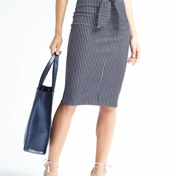 Stripe Tie-Waist Pencil Skirt | Banana Republic