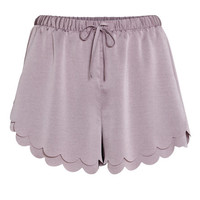 Scalloped-hem Shorts - from H&M